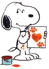 dog snoopy hearts