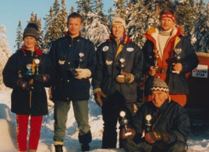 Alaskan Malamute team