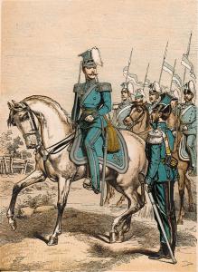 Uniform för regementet vid mitten av 1860-talet