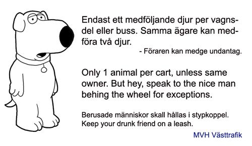 Ett exempel på tydlig skylt inom kollektivtrafiken. /Victoria