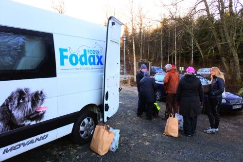 Fodax skänke 4 kilo av sitt färskfoder till alla deltagare